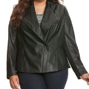Lane bryant faux leather jacket